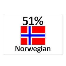 51% Norwegian Postcards (Package of 8)