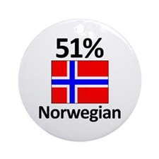 51% Norwegian Ornament (Round)