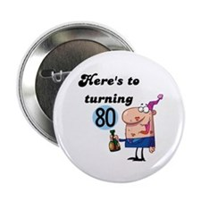 """80th Birthday 2.25"""" Button (100 pack)"""