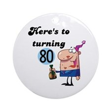 80th Birthday Ornament (Round)