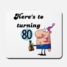 80th Birthday Mousepad