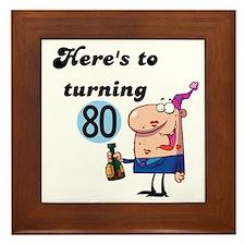 80th Birthday Framed Tile