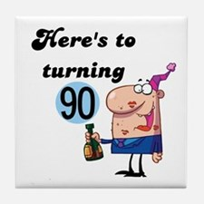 90th Birthday Tile Coaster