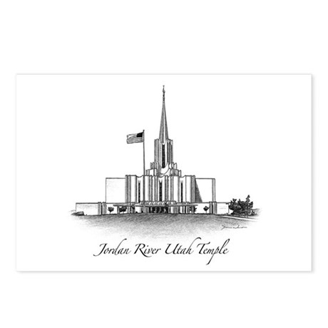 Jordan River Utah Temple Postcards (Package of 8)