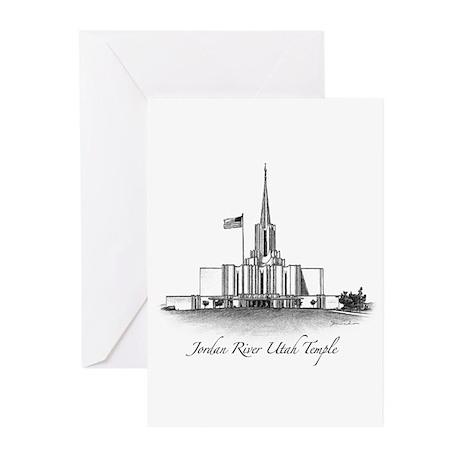 Jordan River Utah Temple Greeting Cards (Pk of 10)