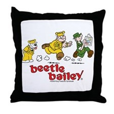 Otto, Sarge, and Beetle Chase Throw Pillow