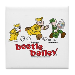 Otto, Sarge, and Beetle Chase Tile Coaster