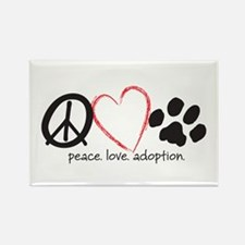 Peace Love Adoption Magnet