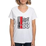 Mustang 83 RWB Women's V-Neck T-Shirt