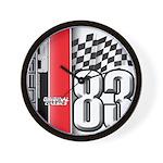 Mustang 83 RWB Wall Clock