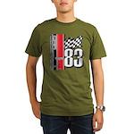Mustang 83 RWB Organic Men's T-Shirt (dark)