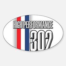 302 RWB Oval Decal