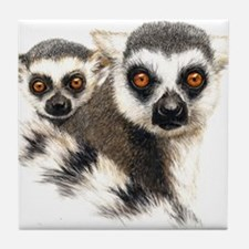 Lemurs Tile Coaster