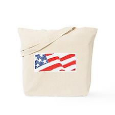American Flag Drawing Tote Bag