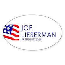 Lieberman 08 Oval Decal