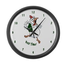 Beer Time! Large Wall Clock