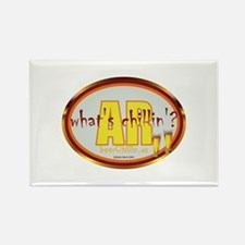 Funny Grillin and chillin Rectangle Magnet