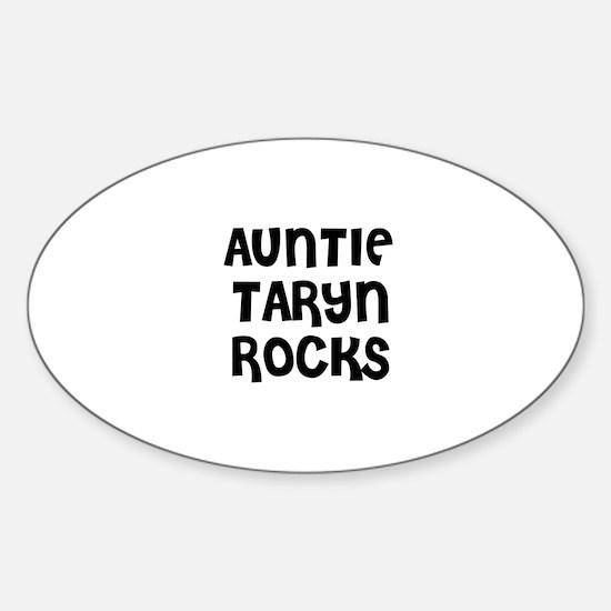 AUNTIE TARYN ROCKS Oval Decal