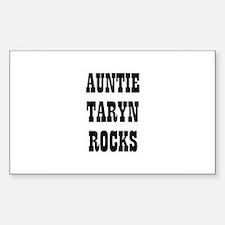 AUNTIE TARYN ROCKS Rectangle Decal