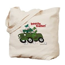 Beetle and Sarge in Jeep Tote Bag