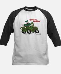 Beetle and Sarge in Jeep Kids Baseball Jersey