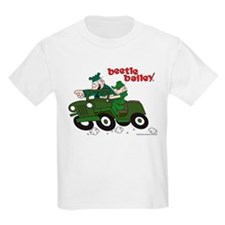 Beetle and Sarge in Jeep Kids Light T-Shirt