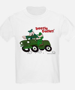 Beetle and Sarge in Jeep T-Shirt