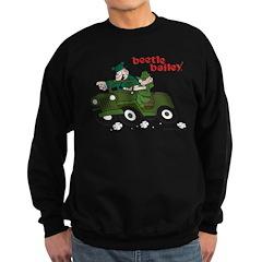 Beetle and Sarge in Jeep Sweatshirt
