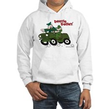 Beetle and Sarge in Jeep Hooded Sweatshirt