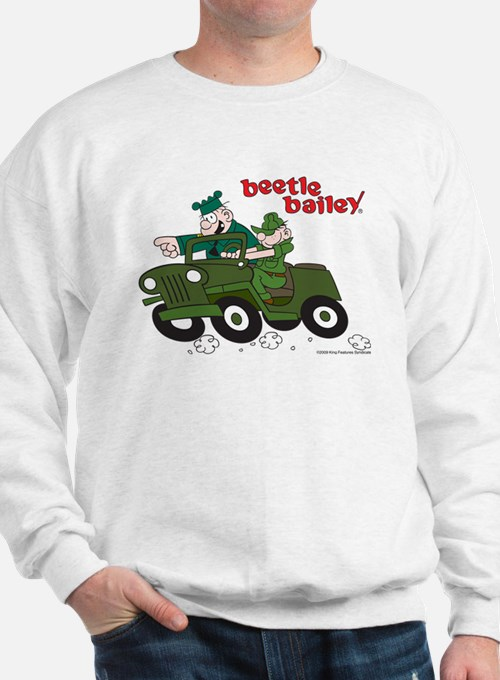 Beetle and Sarge in Jeep Sweatshirt