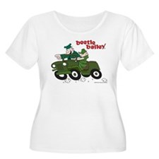 Beetle and Sarge in Jeep Women's Plus Size Scoop N