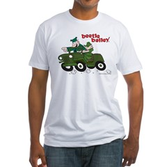 Beetle and Sarge in Jeep Fitted T-Shirt