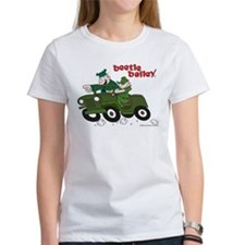 Beetle and Sarge in Jeep Women's T-Shirt