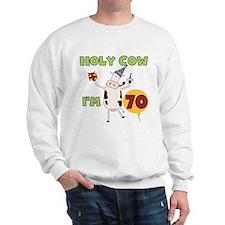 Cow 70th Birthday Sweatshirt