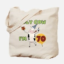 Cow 70th Birthday Tote Bag