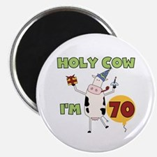 """Cow 70th Birthday 2.25"""" Magnet (10 pack)"""