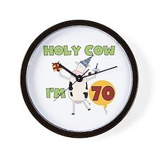Cow 70th Birthday Wall Clock