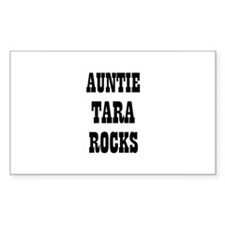 AUNTIE TARA ROCKS Rectangle Decal