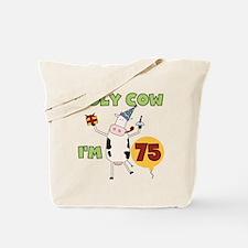 Cow 75th Birthday Tote Bag