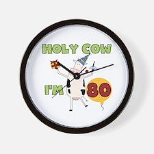 Cow 80th Birthday Wall Clock