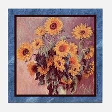 Monet - Flowers - Tile Coaster