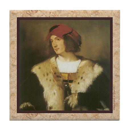 Titian - Red Cap - Tile Coaster