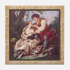 Boucher - Couple - Tile Coaster
