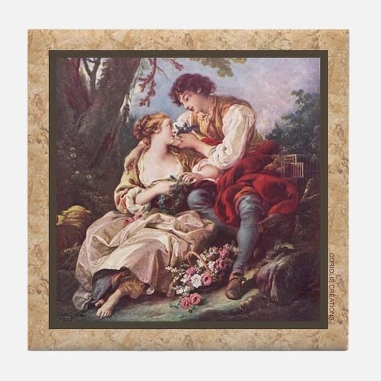 Boucher - Couple - Tile Coaster
