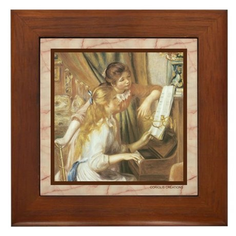 Piano by Renoir - Framed Tile