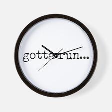 gotta run Wall Clock