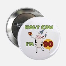 """Cow 90th Birthday 2.25"""" Button (10 pack)"""