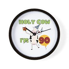 Cow 90th Birthday Wall Clock