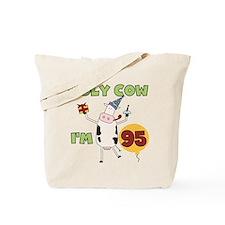 Cow 95th Birthday Tote Bag