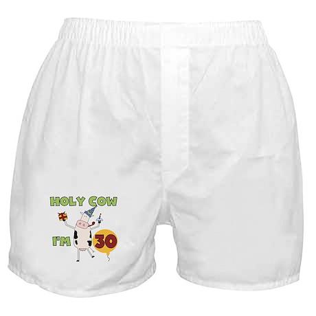 Cow 30th Birthday Boxer Shorts